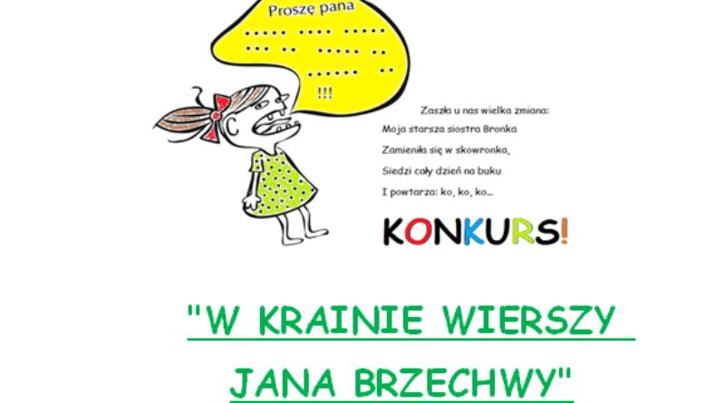 Konkurs W Krainie Wierszy Jana Brzechwy Oddziały