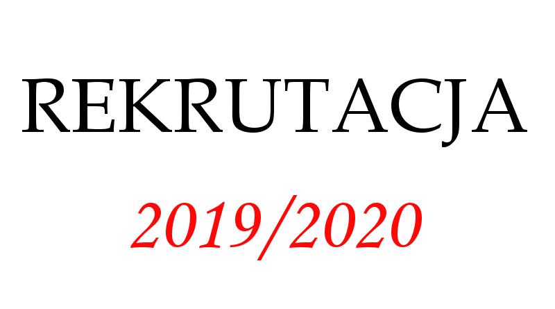 ZASADY REKRUTACJI DO PRZEDSZKOLA 2019/2020