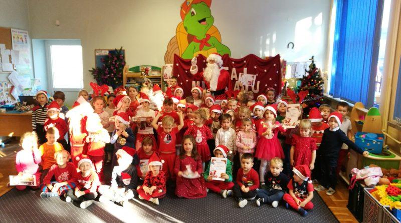 Wizyta Świętego Mikołaja w przedszkolu :)