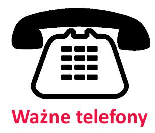 Ważne telefony